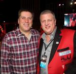 """ESPN anchor Steve Levy with the D Owner Derek Stevens at """"Knockout Night at the D"""" in Las Vegas"""