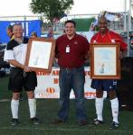 Kick It For Charity at the Guns'n'Hoses Police vs. Fire Benefit Soccer Game, Sept. 17