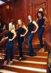 Fantasy Girls on Grand Staircase at Titanic: The Artifact Exhibition