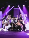 Featured performers from Piranha Nightclub perform at Black & White Party