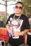French Montana poses with bottle of Ciroc at Palms Pool