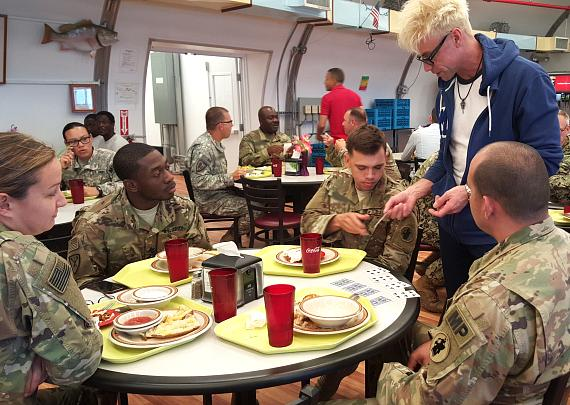 MURRAY The Magician Returns to Planet Hollywood after 3-Week USO Tour for our Troops