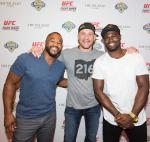 (HI-RES) Rashad Evans, Stipe Miocic, and Uriah Hall on the red carpet at the UFC Lip Sync Challenge at Lagasse's Stadium-570