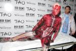 "Heidi Klum becomes the ""Visible Woman"" for Halloween at TAO Nightclub"