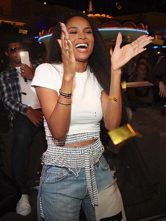 Date Night Out with Ciara and Russell Wilson at XS Nightclub in Las Vegas