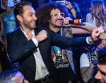 Jason Strauss and Redfoo at Marquee Fifth Anniversary