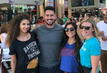 Bachelorette and Bachelor in Paradise Winner, Josh Murray, Spotted at BEER PARK at Paris Las Vegas