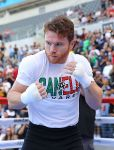 Canelo Álvarez at Media Workout in Los Angeles