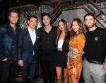Justin Hartley, Mott 32 co-founder Xuan Mu, Ross Butler, Kelsey Merritt, Jamie Chung, Bryan Greenberg at the Mott 32 grand opening at The Venetian