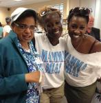 Kaci R. Wilson and Nadine Roden at Opportunity Village