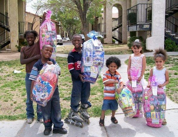 E Bunny Rallies Community to Donate Easter Baskets for Homeless & Underprivileged Children