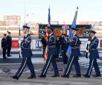 Col. Ross Anderson, the base's 926th Wing Commander, performed a swearing-in ceremony for new recruits, the Nellis Air Force Base Honor Guard presented the colors, Chaplain Glen Harris gave the invocation and 2nd Lt. Daniel Vargas belted out a beautiful rendition of the national anthem to begin the evening