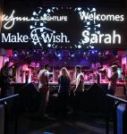 Make-A-Wish Recipient Sarah Hodge with Wynn Nightlife Resident DJ Duo The Chainsmokers and friends at Intrigue Nightclub Las Vegas