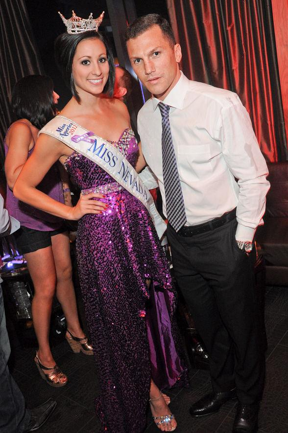 Miss Nevada Randi Sundquist and Sean Avery at Marquee