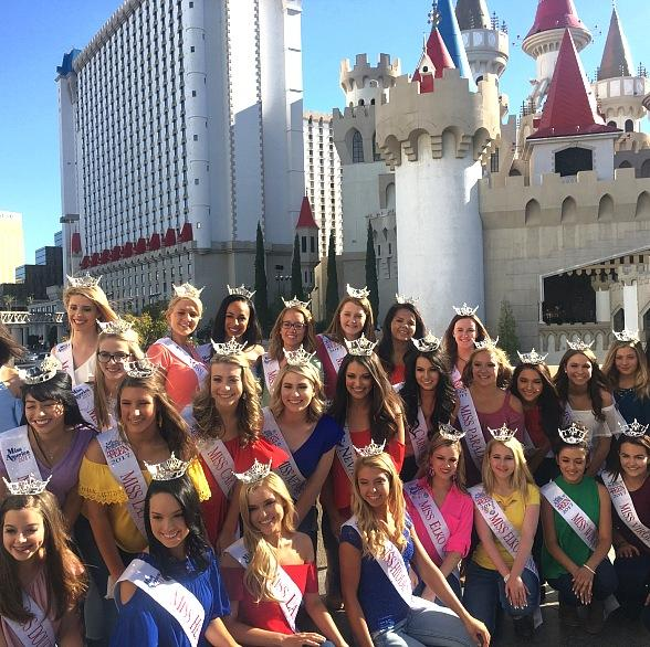Miss Nevada's Outstanding Teen 2017 Contestants Attend Tournament of Kings at Excalibur