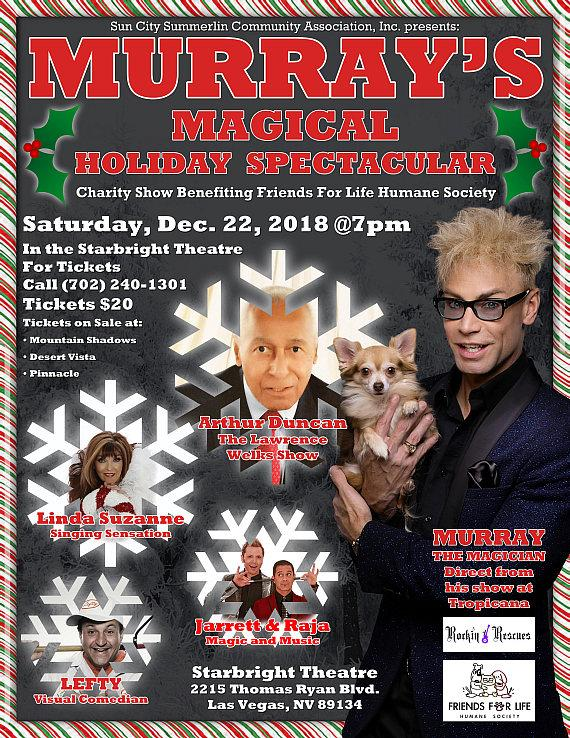 MURRAY's 5th Annual Christmas Dog Rescue Charity Show at Starbright Theater Dec. 22
