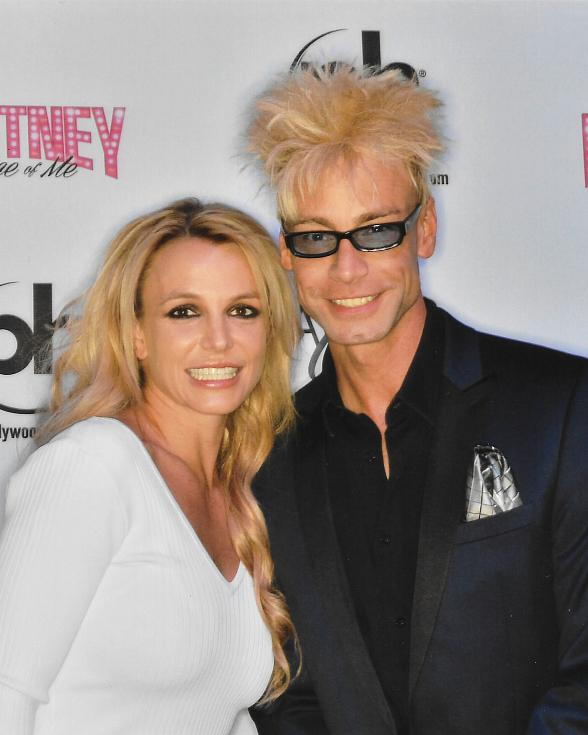 Planet Hollywood Headliners Britney Spears and Murray SawChuck meet backstage at