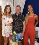 Nina Agdal, Leo Robitschek and Leona Lewis at  JEMAA – The NoMad Pool Party
