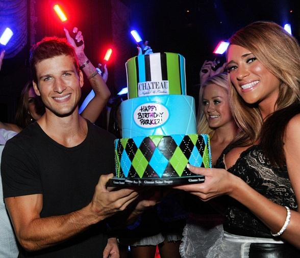 ker Young Poses with His Birthday Cake at Chateau Nightclub & Gardens