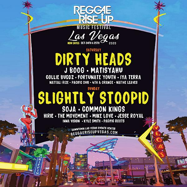 Reggae Rise up Announces New Dates for 2020 Festival at Downtown Las Vegas Events Center, October 24-25