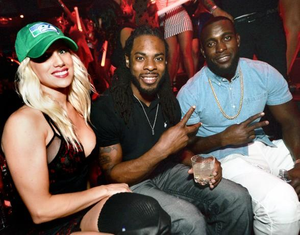 Seattle Seahawks Richard Sherman and Kam Chancellor party at TAO Nightclub