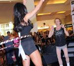Richard Simmons and Miss USA contestants Miracle Mile Shops