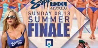 Summer Finale Weekend at Sapphire Pool & Dayclub with Selfie Saturday (9/12) and Summer Finale (9/13)