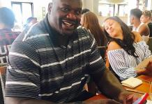 NBA Hall of Fame Legend Shaquille O'Neal Dines at HEXX Kitchen + Bar in Las Vegas