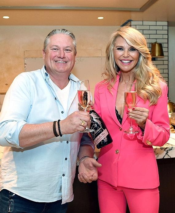 Christie Brinkley Christens All-New Bar with Her Bellissima Prosecco at Soon-To-Be-Open Smith & Wollensky inside Grand Canal Shoppes at The Venetian Resort Las Vegas