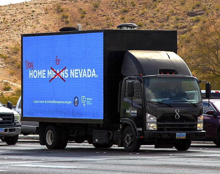 Outdoor Advertising Company Steps Up to Encourage People to Stay Home for Nevada