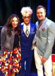 Murray with hosts of TLC's 'What Not To Wear', Clinton Kelly and Stacey London