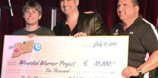 """American Idol"" Winner and Bally's Headliner Taylor Hicks Presents $12,000 Check to Wounded Warrior Project"