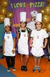 The three finalists for John's Incredible Kids Cook-off Championship (Saniha, Autumn and Omar
