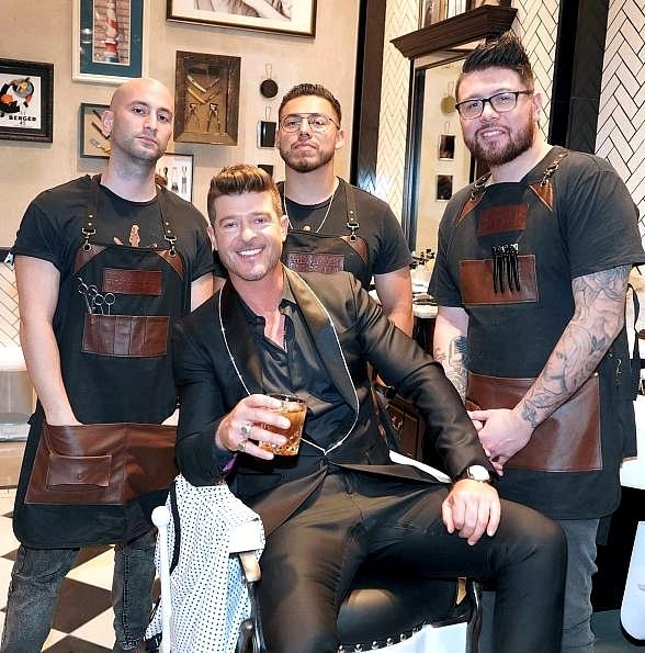 Robin Thicke Performed at The Barbershop Cuts & Cocktails in Las Vegas