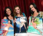 Tracey, Mariah and Yesi Show Off Their Calendar Pages