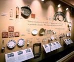 "Wall of Serving Utensils, Dishes, Tiles at ""Titanic the Artifact Exhibition"" at Luxor Hotel & Casino"