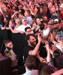 Chainsmokers Alex Pall greets fans at Fremont Street Experience Viva Vision Show Las Vegas