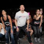 Fight Capital Owner Skip Kelp cheers on his fighters during Industry Fight Night at DLV Events Center