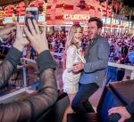 Jennifer Finnigan and Jonathan Silverman enjoy the D Casino Hotel Las Vegas