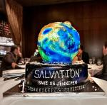 Jennifer Finnigan's Salvation Birthday Cake at Andiamo Italian Steakhouse Las Vegas