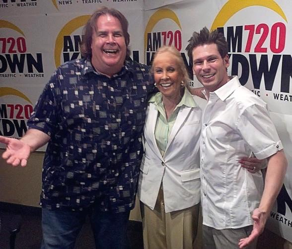 Magician Mike Hammer with 'Not Just Sports' Co-Hosts Lance Pry and Susan Spencer