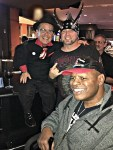 """Pitboss"" star Shorty Rossi with ""Counting Cars"" star Horny Mike and former Heavyweight Champ Leon Spinks at the Longbar inside the D Las Vegas"