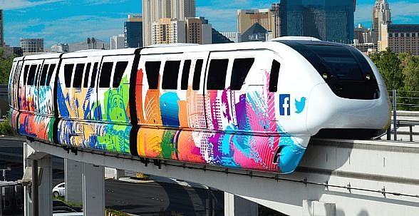 Las Vegas Monorail Connects Locals to Holiday Cheer This Season with Free Parking at SLS Las Vegas, $1 Fares and Holiday Sights and Activities Aplenty Along Monorail's 4-Mile Route