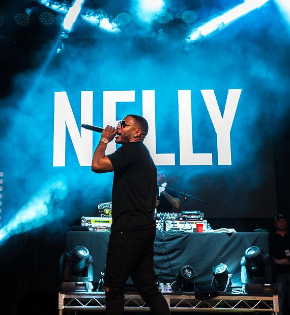 Grammy Award-Winner Nelly Performs a Free Concert Outside the D Las Vegas
