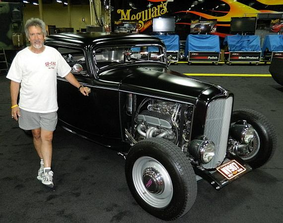 """Nick Kallos with """"The Contender"""" at Barrett-Jackson auction in Las Vegas"""
