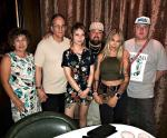 """""""Pawn Stars"""" Chumlee with Fiancee Olivia, her Family and Chumlee's brother Sage Russell at Andiamo Italian Steakhouse Las Vegas"""