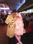 Pink Panther Inspector Clouseau - Casino owner Derek Stevens and wife Nicole on Halloween Weekend
