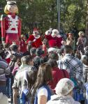 Santa greets the crowd at Opportunity Village Magical Forest