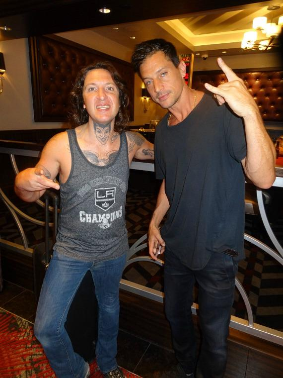 Rapper Mickey Avalon and Actor/Rapper Simon Rex (aka Dirt Nasty) Party at the D Casino Hotel Las Vegas