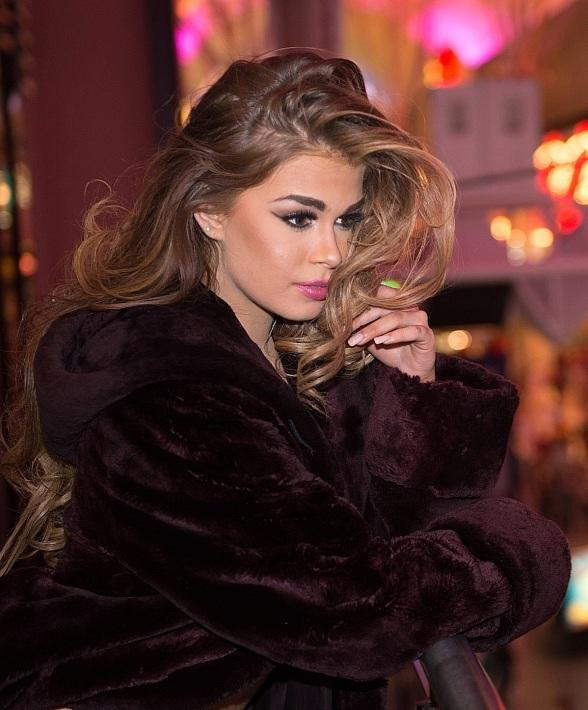 Miss United States 2015 Summer Priester visits the D Casino Hotel in Las Vegas